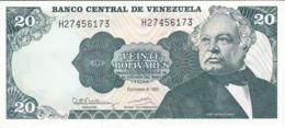 BILLETE DE VENEZUELA DE 20 BOLIVARES DEL AÑO 1992 SIN CIRCULAR  (BANKNOTE) UNCIRCULATED (BANKNOTE) - Venezuela