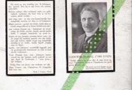 Lodewijk Dosfel-Tysmans, Dendermonde 1881, 1925. Dokter Rechten,AVV VVK - Décès