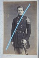CDV ABL Officier Belge Circa 1865 Sabre Sword Armée Belge Belgische Leger Photographe L DUCHATEL Tournai - Oud (voor 1900)