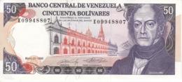 BILLETE DE VENEZUELA DE 50 BOLIVARES DEL AÑO 1990 SIN CIRCULAR  (BANKNOTE) UNCIRCULATED - Venezuela