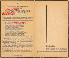 Oorlog Guerre Etienne Van Isacker Heist Aan Zee Verzetsman Gesneuveld Te KZ Buchenwald 1944 De Keyzer - Devotion Images