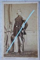 CDV ABL Officier Belge Circa 1865 Sabre Sword Armée Belge Belgische Leger Photographe GHEMAR Brussel Bruxelles - Oud (voor 1900)