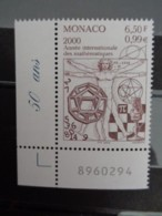 MONACO 2000 Y&T N° 2265 ** - ANNEE INTERN. DES MATHEMATIQUES - Monaco