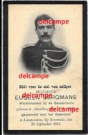 Oorlog Guerre Eugeen Bergmans Alsemberg Rijkswacht Gendarmerie Gesneuveld Te Lampernisse 1915 Politie Police Soldaat - Images Religieuses