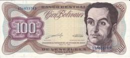 BILLETE DE VENEZUELA DE 100 BOLIVARES DE MAYO-31-1990 EN CALIDAD EBC (XF) (BANKNOTE) - Venezuela