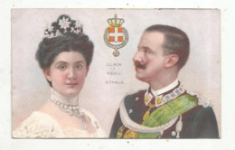 Cp, Famille Royale , L.L. M.M. I REALI D'ITALIA , Dos Simple , Union Postale Universelle ,  Vierge - Familles Royales
