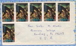 Ghana On Cover USA - 1981 - Christmas (Paintings): 15p, The Betrothal Of St. Catherine Of Alexandria, By Lucas Cranach - Ghana (1957-...)