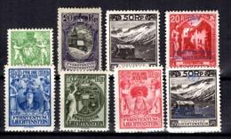 Liechtenstein YT N° 49A, N° 52, N° 102, N° 108/110 Et Service N° 3 Et 6 Neufs *. B/TB. A Saisir! - Liechtenstein