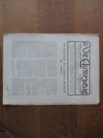 LA VIE AUTOMOBILE DU SAMEDI 28 JUIN 1919 LA VOITURE BIGNAN-SPORT,L'AVION QUI A TRAVERSE L'OCEAN - Livres, BD, Revues