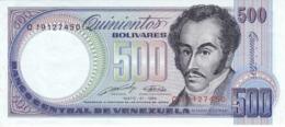 BILLETE DE VENEZUELA DE 500 BOLIVARES DEL AÑO 1990 SIN CIRCULAR  (BANKNOTE) UNCIRCULATED - Venezuela