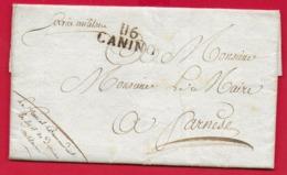 PREFILATELICA - PERIODO NAPOLEONICO - 1811 Da ACQUAPENDENTE A FARNESE - Timbro Postale CANINO 116 Posta Militare - 1. ...-1850 Prephilately