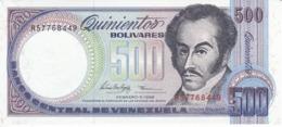 BILLETE DE VENEZUELA DE 500 BOLIVARES DEL AÑO 1998 SIN CIRCULAR  (BANKNOTE) UNCIRCULATED - Venezuela