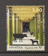 CROATIA 2019,100th ANNIVERSARY OF THE FACULTY OF VETERINARY MEDICINE ,,MNH - Kroatië