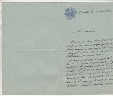 Lettre 1883 - Manuscritos
