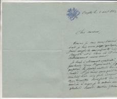 Lettre 1883 - Manuskripte