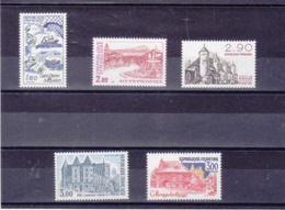 FRANCE 1982 TOURISME Yvert 2193-2196 + 2232 NEUF** MNH Cote : 6,10 Euros - Unused Stamps
