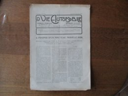 LA VIE AUTOMOBILE DU SAMEDI 27 DECEMBRE 1919 LA HUIT CYLINDRES DARRACO,CARACTERISTIQUES PRINCIPALES DES VOITURES DE 1919 - Livres, BD, Revues