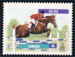 Canada Cheval Horse Pferd Big Ben 13 X 13.4 MNH ** Neuf SC (C17-93a) - 1952-.... Reign Of Elizabeth II