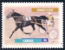 Canada Cheval Horse Pferd Armbro Flight 13 X 13.4 MNH ** Neuf SC (C17-94a) - 1952-.... Reign Of Elizabeth II