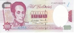 BILLETE DE VENEZUELA DE 1000 BOLIVARES DEL AÑO 1995 SIN CIRCULAR  (BANKNOTE) UNCIRCULATED - Venezuela