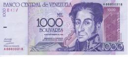 BILLETE DE VENEZUELA DE 1000 BOLIVARES DEL AÑO 1998 SIN CIRCULAR  (BANKNOTE) UNCIRCULATED - Venezuela