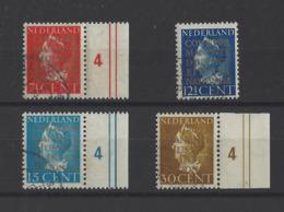 PAYS-BAS.  YT Timbres De Sercice  N° 15/18  Obl  1940 - Dienstzegels