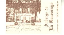 Carte De Visite - Auberge La Genevraye -  77690  La Genevray - Cartes De Visite
