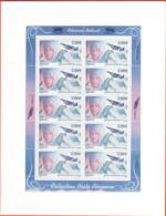 PA 68 F68a , Neuf  ** , Adrienne Bolland , Feuille De 10 Timbres Cadre Blanc , Port Gratuit - Poste Aérienne