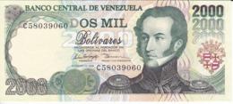 BILLETE DE VENEZUELA DE 2000 BOLIVARES DE FEBRERO-10-1998 SIN CIRCULAR  (BANKNOTE) UNCIRCULATED - Venezuela