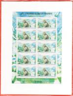 PA 76 F76a , Neuf  ** , Adolphe Pégoud , Feuille De 10 Timbres Cadre Blanc , Port Gratuit - Airmail