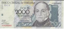 BILLETE DE VENEZUELA DE 2000 BOLIVARES DEL AÑO 1998 SIN CIRCULAR  (BANKNOTE) UNCIRCULATED - Venezuela