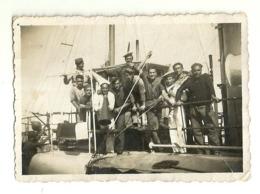 "6012 "" REGIA MARINA-GRUPPO DI MARINAI A GAETA-15/10/1937 ""- FOTO ORIGINALE - Guerra, Militari"