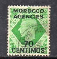 XP2456 - MAROCCO MOROCCO 1937 , Yvert N. 76  Usato  (2380A) . - Grande-Bretagne (ex-colonies & Protectorats)