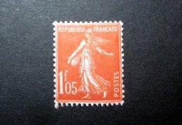 FRANCE 1925 N°195 * (SEMEUSE CAMÉE. 1F05 VERMILLON) - 1906-38 Sower - Cameo