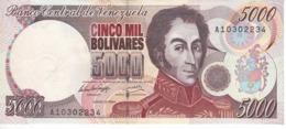 BILLETE DE VENEZUELA DE 5000 BOLIVARES DEL AÑO 1994 EN CALIDAD EBC (XF) (BANKNOTE) - Venezuela