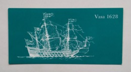 Warship Navire De Guerre Kriegsschiff Vasa 1628  11,5x21cm 1961 - Sailing Vessels