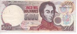 BILLETE DE VENEZUELA DE 5000 BOLIVARES DEL AÑO 1996  (BANKNOTE) - Venezuela