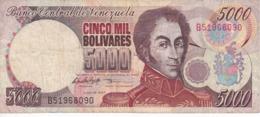 BILLETE DE VENEZUELA DE 5000 BOLIVARES DEL AÑO 1997  (BANKNOTE) - Venezuela