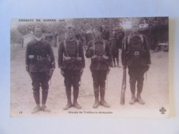 Guerre 14-18 - Croquis De Guerre 1914 - Groupe De Tirailleurs Sénégalais - Carte Animée, Non-circulée - Guerre 1914-18