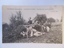 Guerre 14-18 - Guerre De 1914 - Bataille Du Nord - Mitrailleuse De Zouaves En Action - Carte Animée, Circulée - Guerre 1914-18