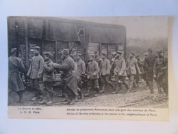 Guerre 14-18 - Guerre De 1914 - Arrivée Des Prisonniers Allemands Dans Une Gare Des Environs De Paris - Carte Animée - Guerre 1914-18