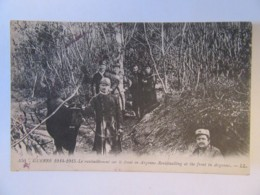 Guerre 14-18 (1914-1915) - Le Ravitaillement Sur Le Front En Argonne - Carte Animée, Circulée - Guerre 1914-18