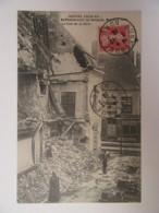 Guerre 14-18 - Bombardement De Bergues, Mai-Juin 1915 - La Rue De La Gare - Carte Animée, Circulée En Décembre 1915 - Guerre 1914-18