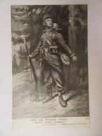 """Guerre 14-18 - CPA Patriotique - Soldat """"On Ne Passe Pas !"""" D'après Georges SCOTT - Carte Illustrée Non-circulée - Patriotiques"""