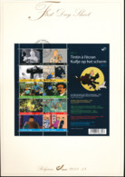 BELGIUM COB 4165/4174 TINTIN FDS 2011 18 - FDC