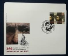 MACEDONIA NORTH 2019 - 350th Ann.of The Death Of REMBRANDT VAN RIJN FDC - Mazedonien