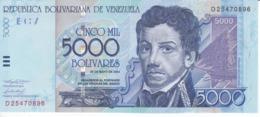 BILLETE DE VENEZUELA DE 5000 BOLIVARES DEL AÑO 2004 SIN CIRCULAR (BANKNOTE) UNCIRCULATED - Venezuela