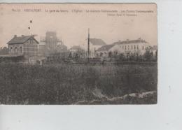 CBPNCPB44/ Belgique-België CP Hoeilaart (Hoeylaert) La Gare Du TRAM-L'Eglise-La Maison Communale-Ecoles Communales - Hoeilaart