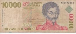 BILLETE DE VENEZUELA DE 10000 BOLIVARES DEL AÑO 1998 (BANKNOTE) - Venezuela
