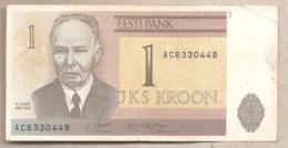 Estonia - Banconota Circolata Da 1 Corona P-69a - 1992 #18 - Estonia